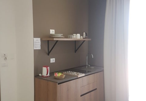 deluxe studio kitchen with terrace