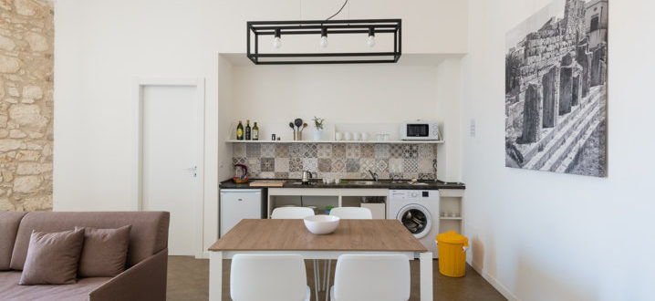 three-room kitchen with balcony